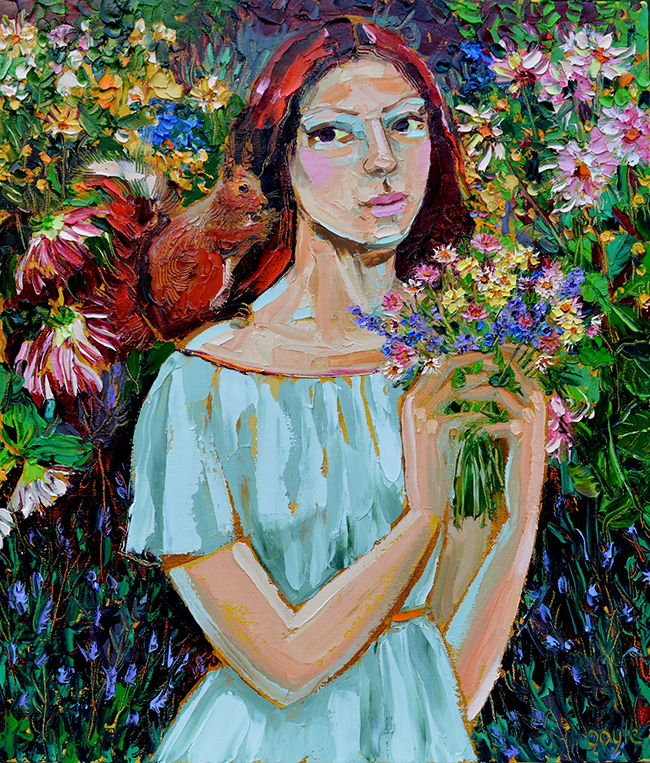 Lucy Doyle - Flowergirl with Squirrel