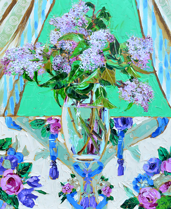Lucy Doyle - Lilac on chintz