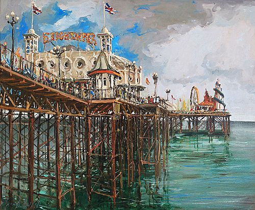 Unknown - The Palace Pier', Bright