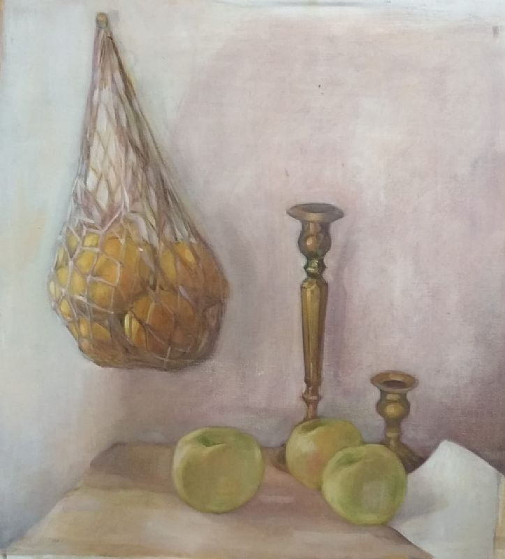 View Three apples and a bag of lemons