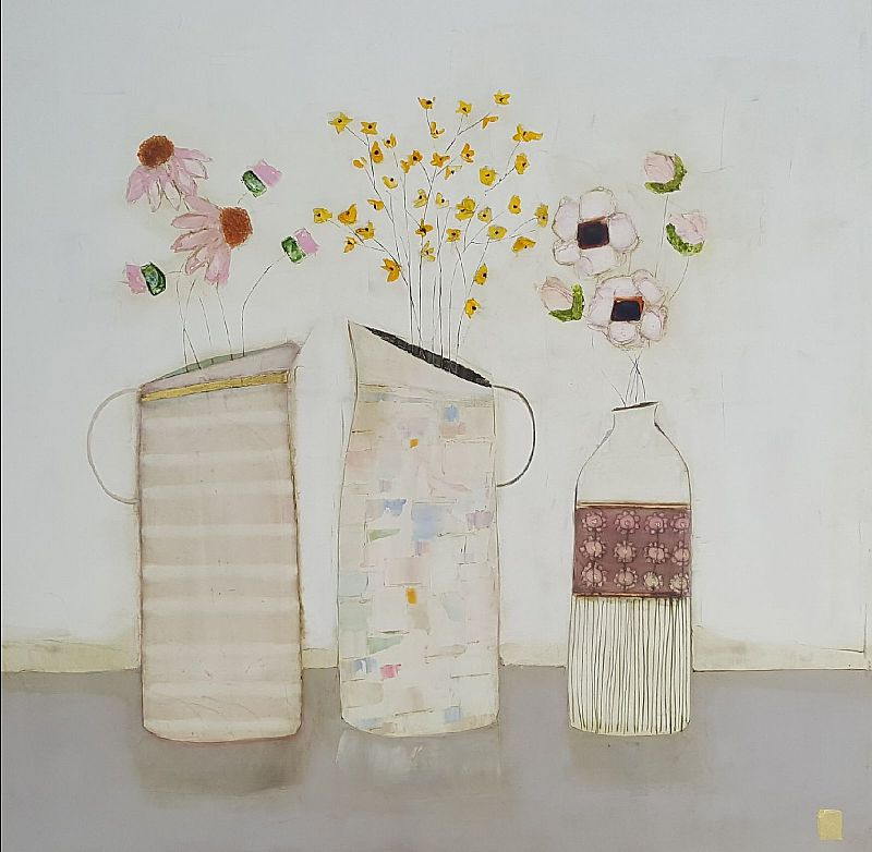 Eithne  Roberts - Two jugs and a bottle