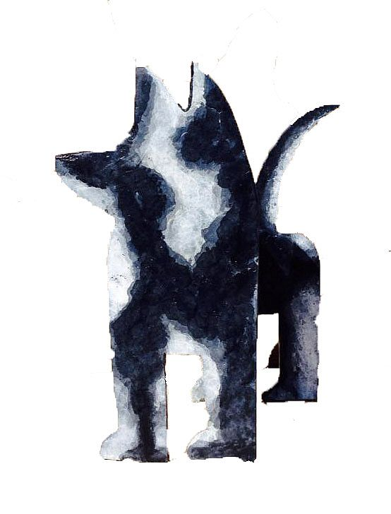 Seamus Connolly - Black and White Dog Large