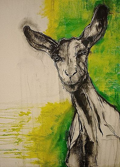 Goat With Green