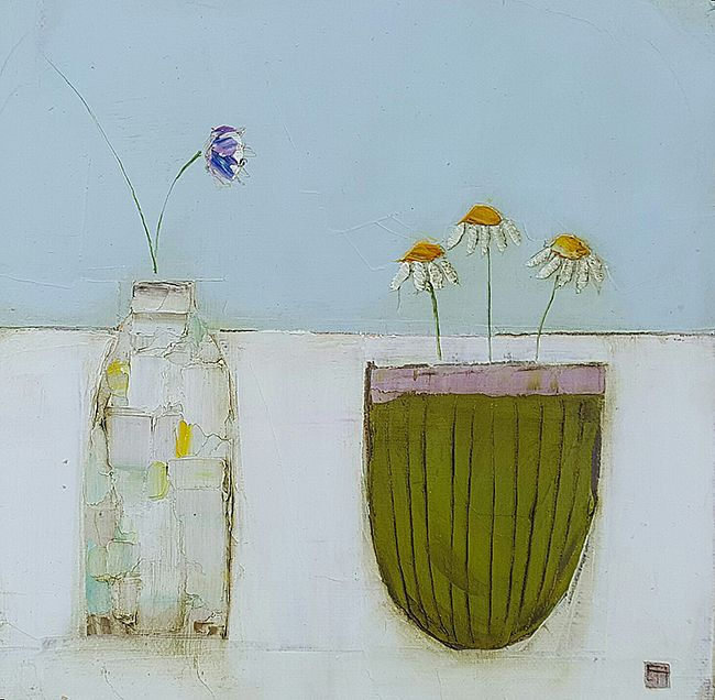 Eithne  Roberts - 2 flower vessels,