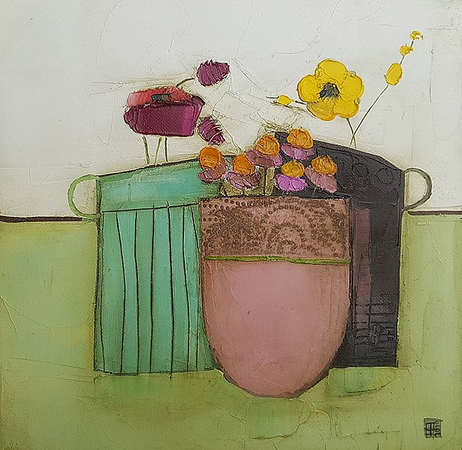 Eithne  Roberts - 2 jugs and pink pot