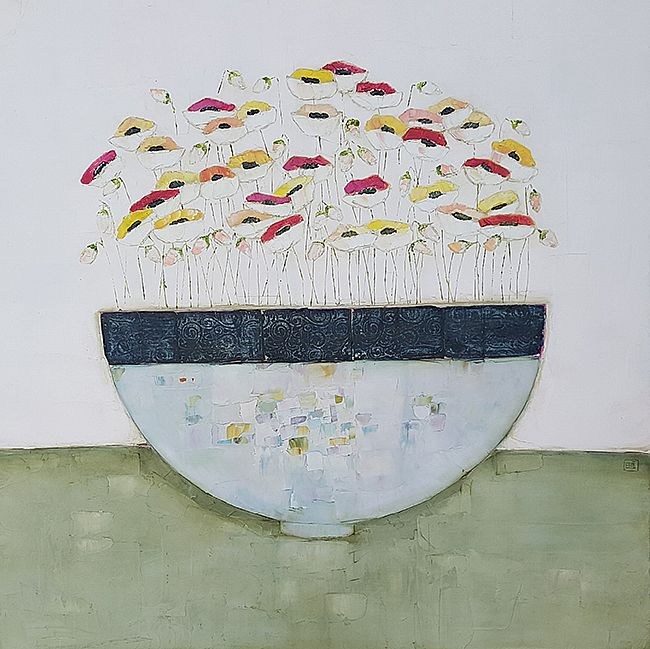 Eithne  Roberts - Big blue bowl on green
