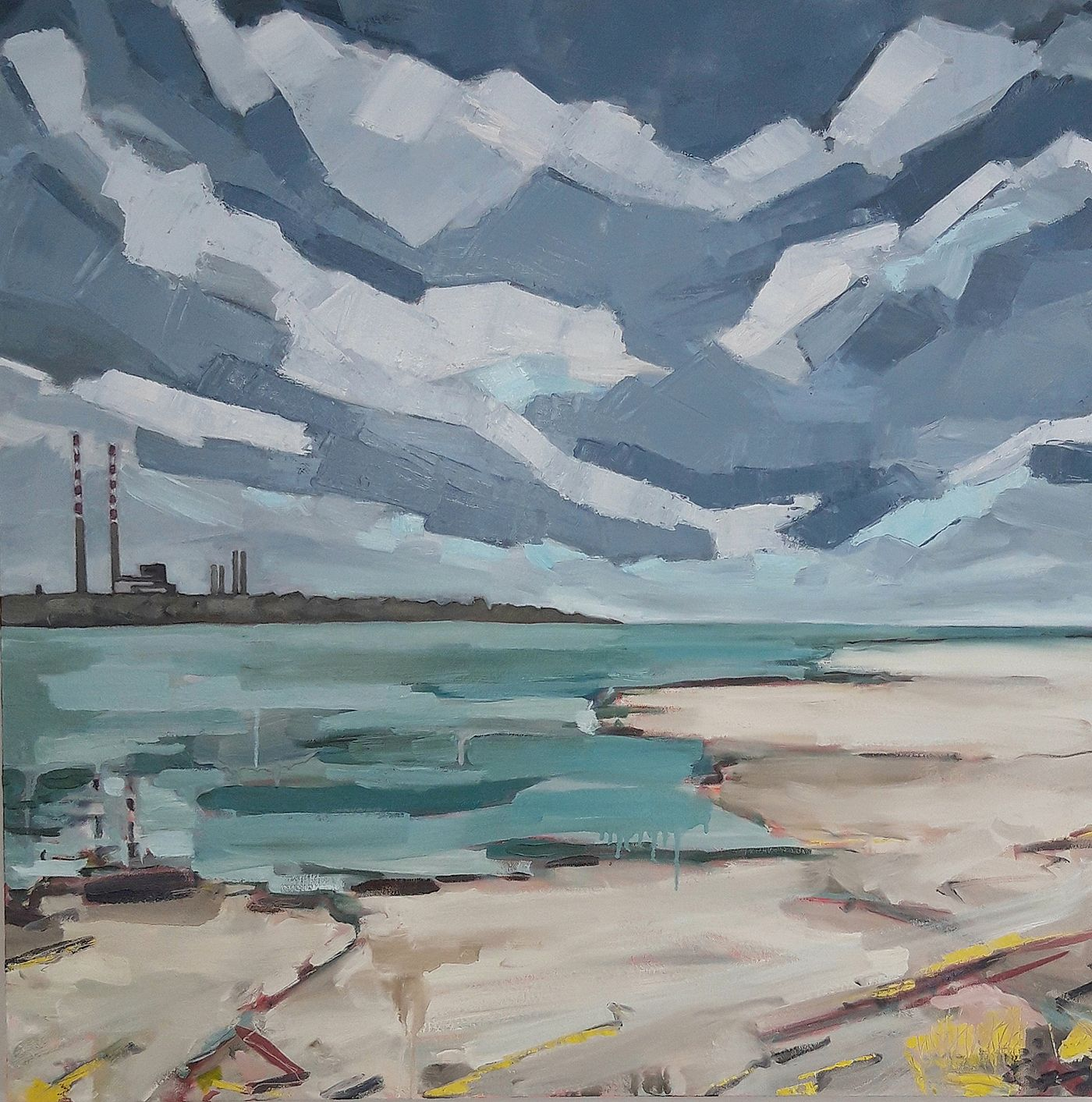 Isobel  Henihan - Pigeon House from Sandymount