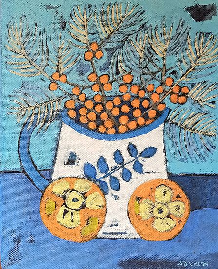 Alison  Dickson - Sea buckthorn and persimmons