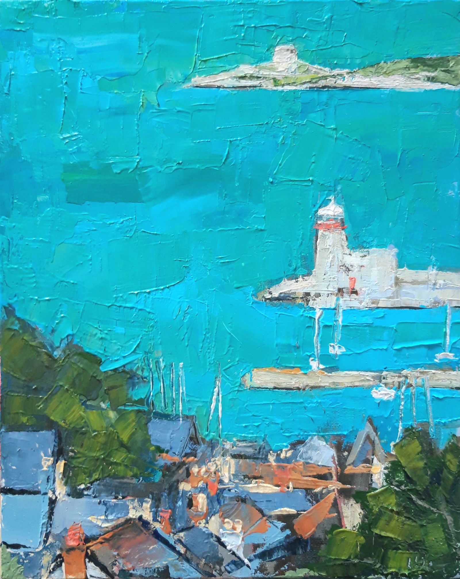 Down to the Harbour , Howth by Isobel  Henihan