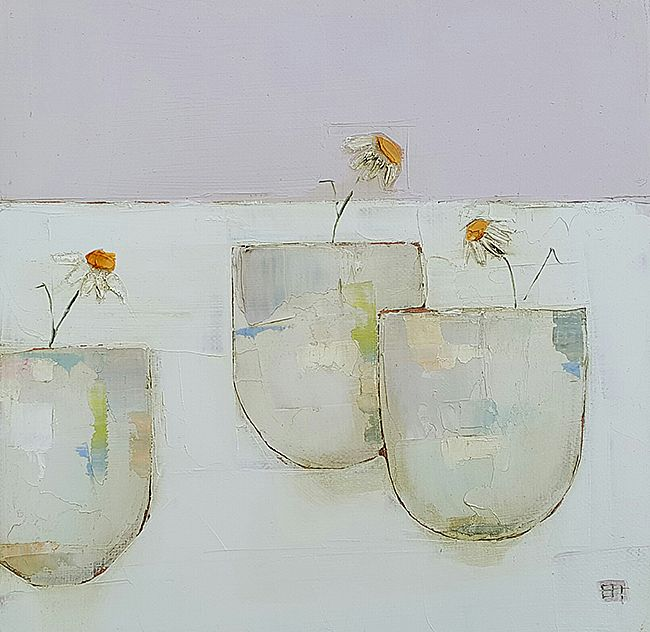 Eithne  Roberts - Three daisy jars