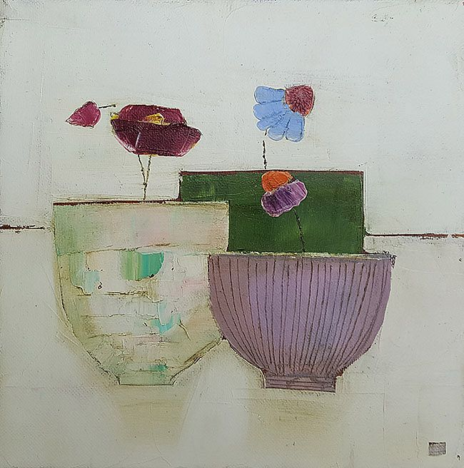 Eithne  Roberts - 3 little flower pots
