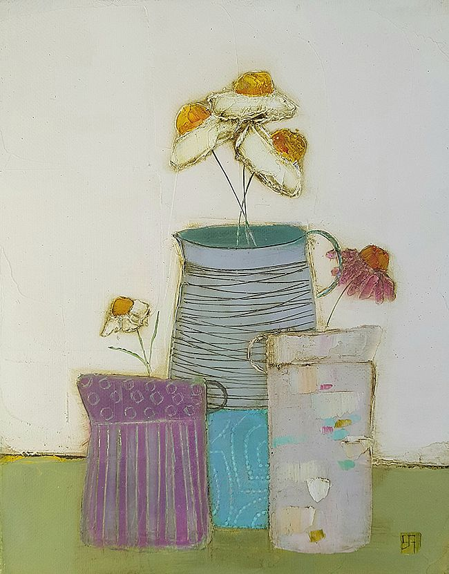 Eithne  Roberts - 3 small jugs