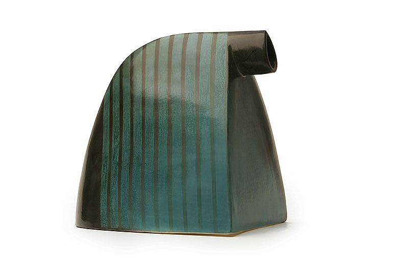 Unknown -  Green Striped Wedge Form