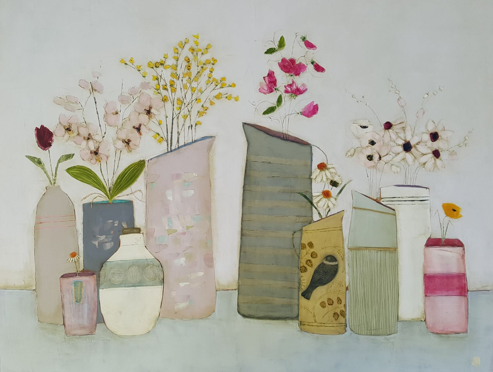 Eithne  Roberts - Birdjug and Sweetpea