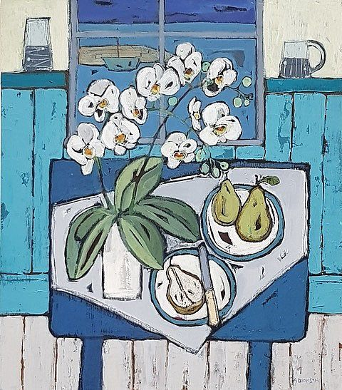 Alison  Dickson - Orchids and pears