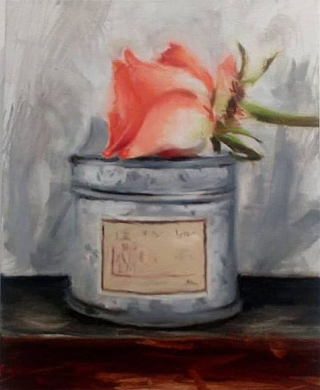 View Coral Rose on French almond candle with Chinese wedding chest drawer