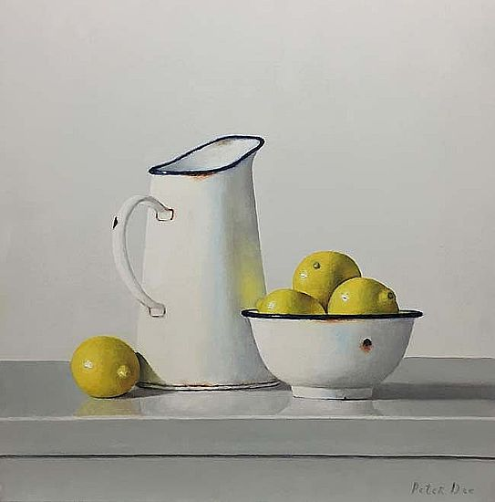 View White Jug with Lemons