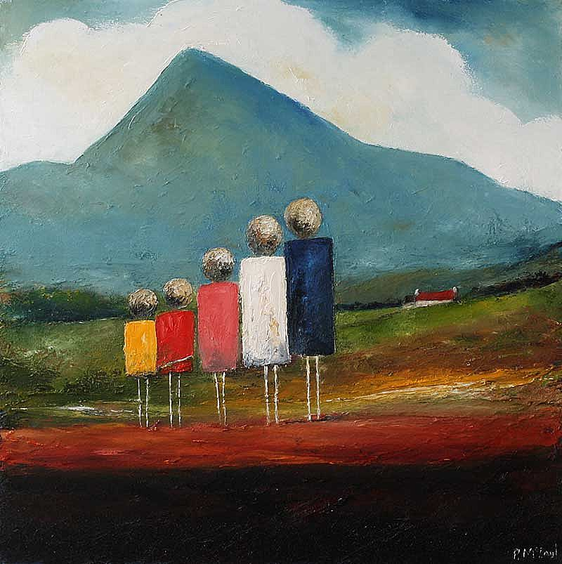 Family Day under Croagh Patrick by Padraig McCaul