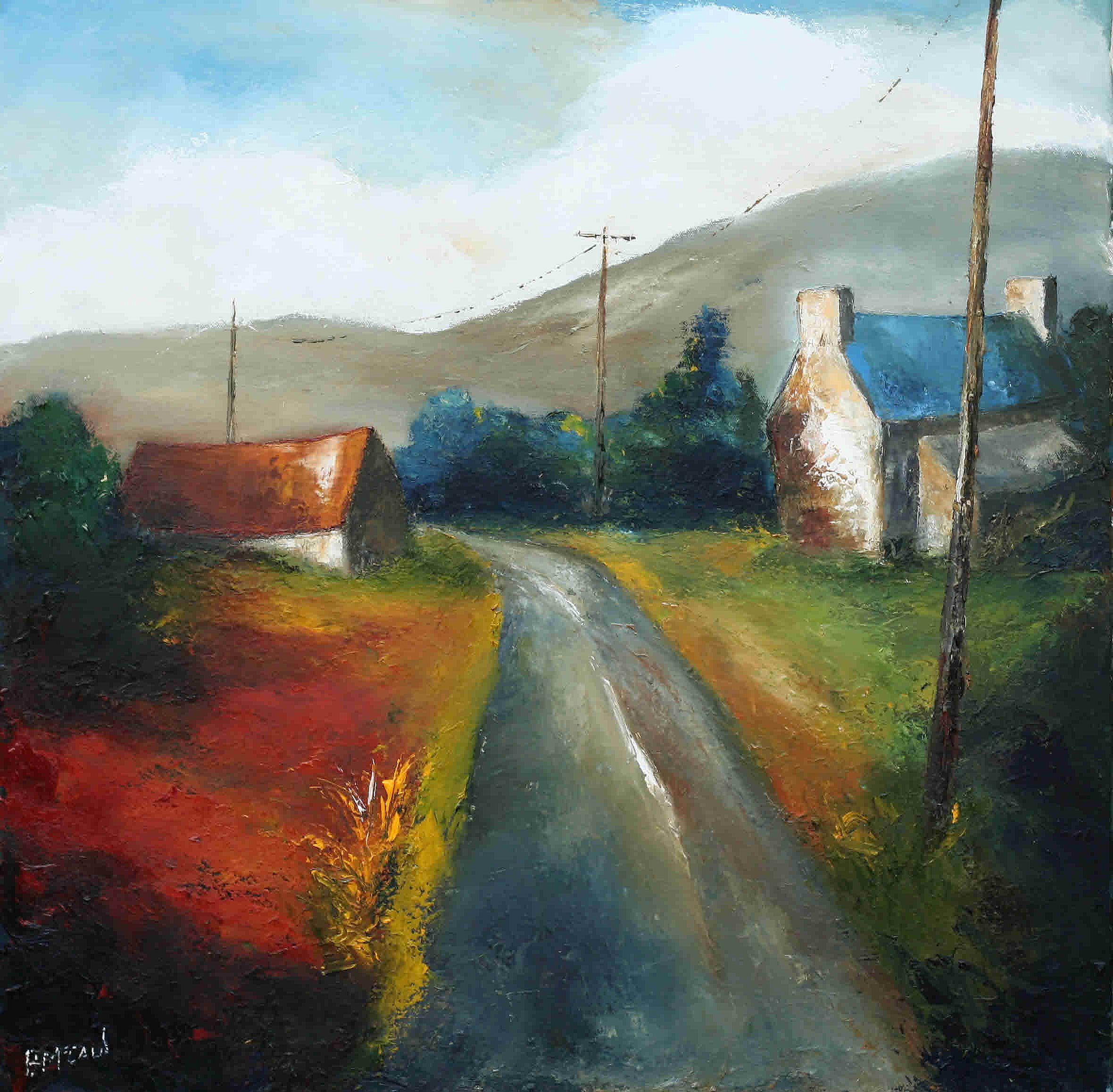 Monthly Payment Calculator >> A Passing Road by Padraig McCaul | Irish Art, The Doorway Gallery, Irish Art Gallery