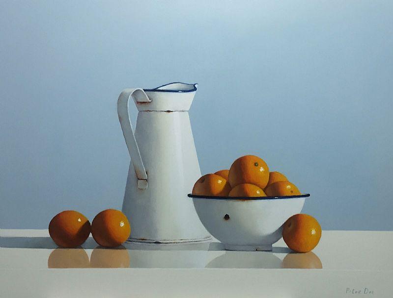 Vintage Enamelware with Oranges