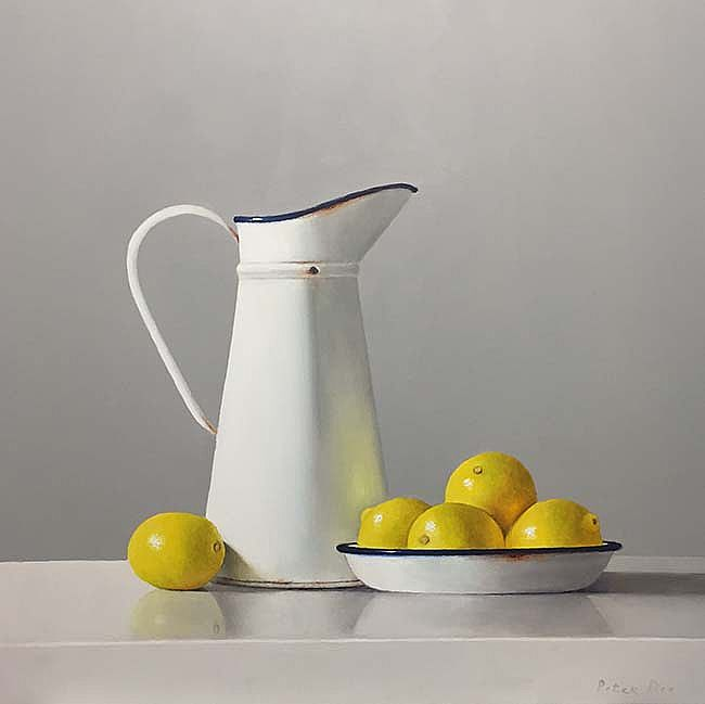 White Jug with  Lemons II