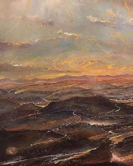 View The Distant Mourne mountains from the Wicklow Hills