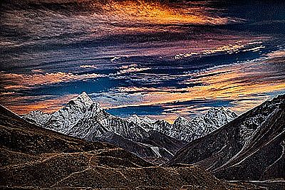 View Ama Dablam sunset