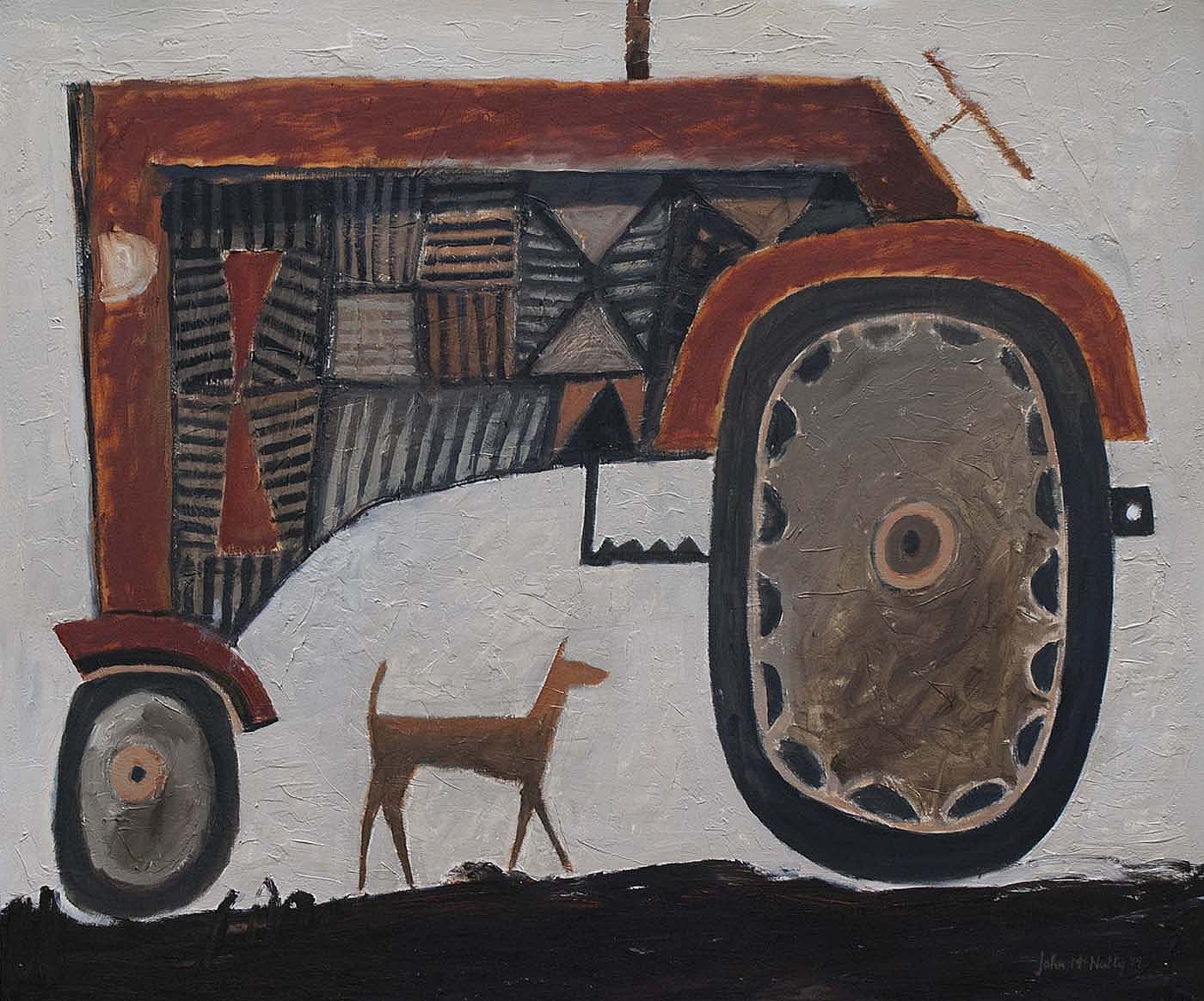 Big red tractor by John  McNulty
