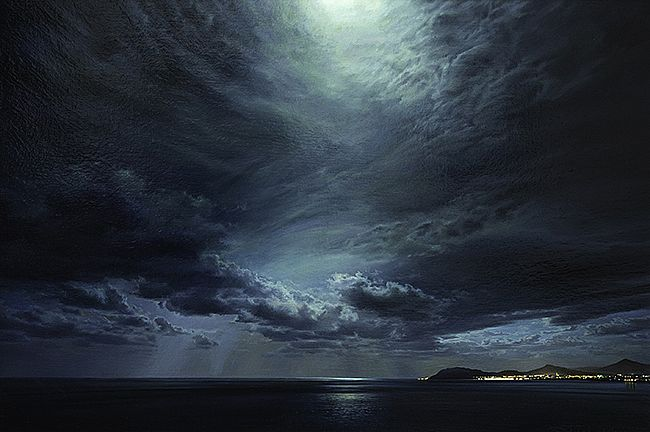 Sergey  Talichkin - Blue Luna, View from Killiney Hill over Bray