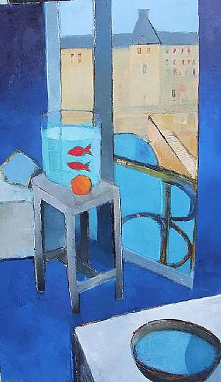 Cormac O'Leary - Blue interior & Goldfish After Matisse,