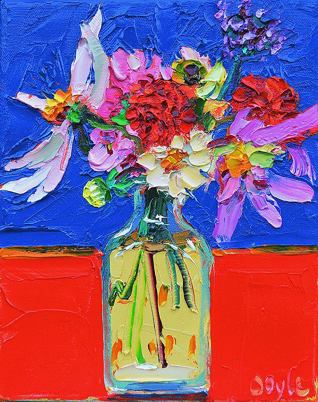 Lucy Doyle - Broken Blooms blue/red
