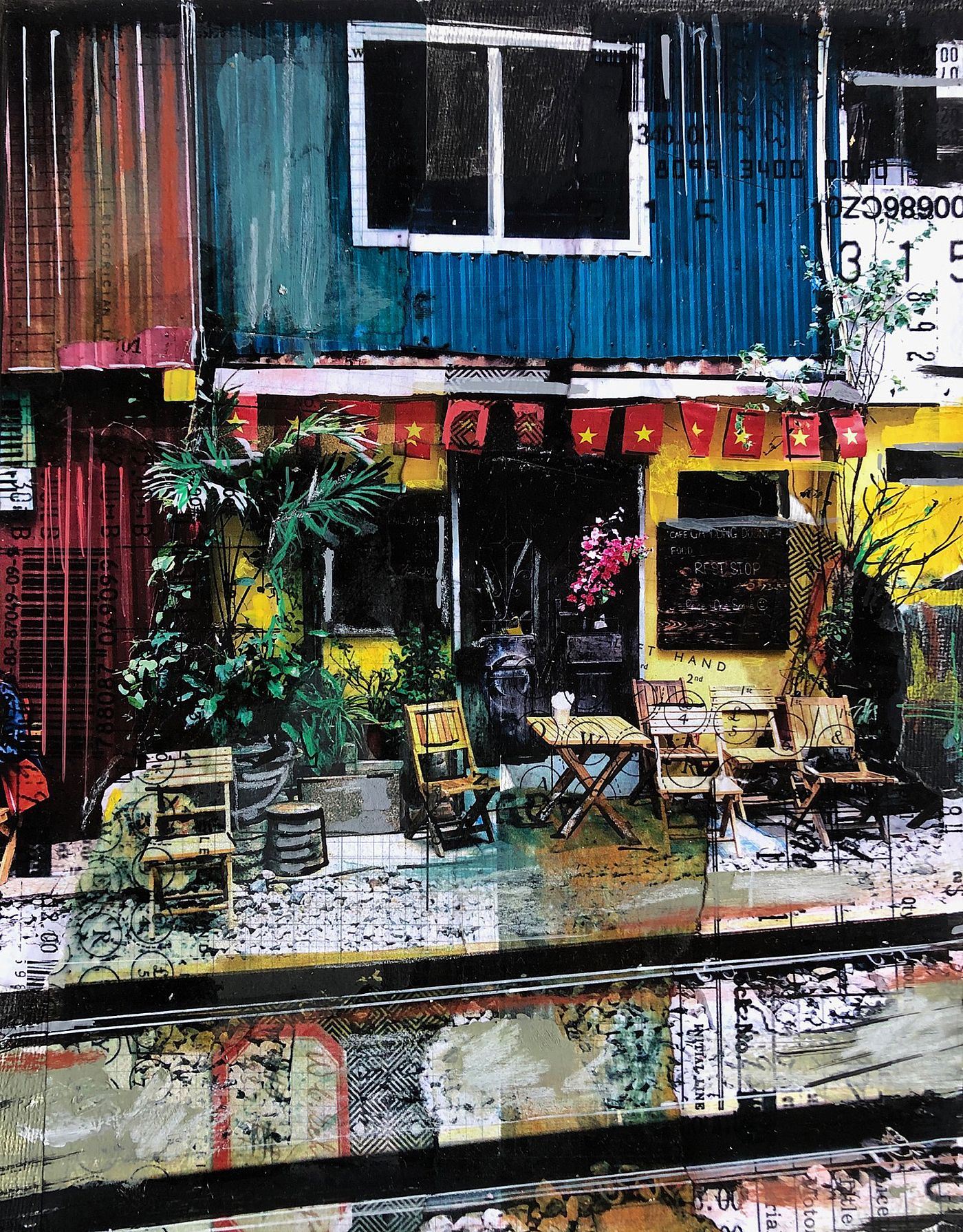 Anna  Allworthy - CAFE ON TRAIN STREET, HANOI