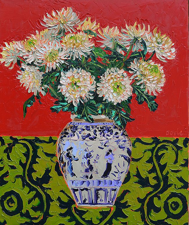 Lucy Doyle - Chrysanthemums red