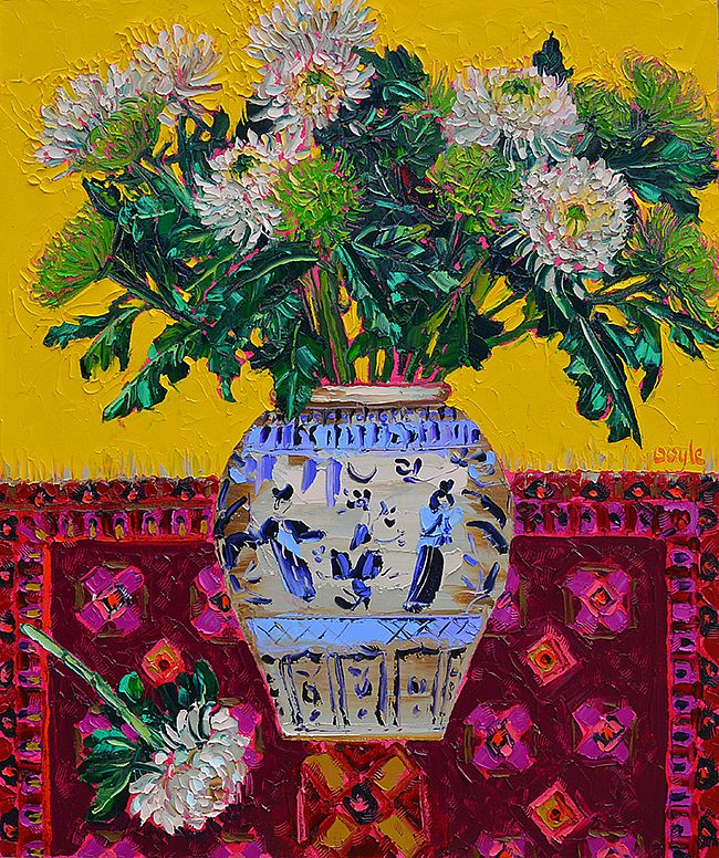 Lucy Doyle - Chrysanthemums yellow
