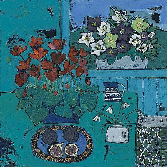 Alison  Dickson - Cyclamen and figs