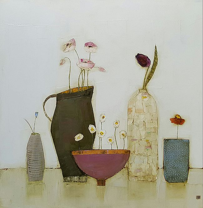 Eithne  Roberts - Daisy bowl, jug and bottles