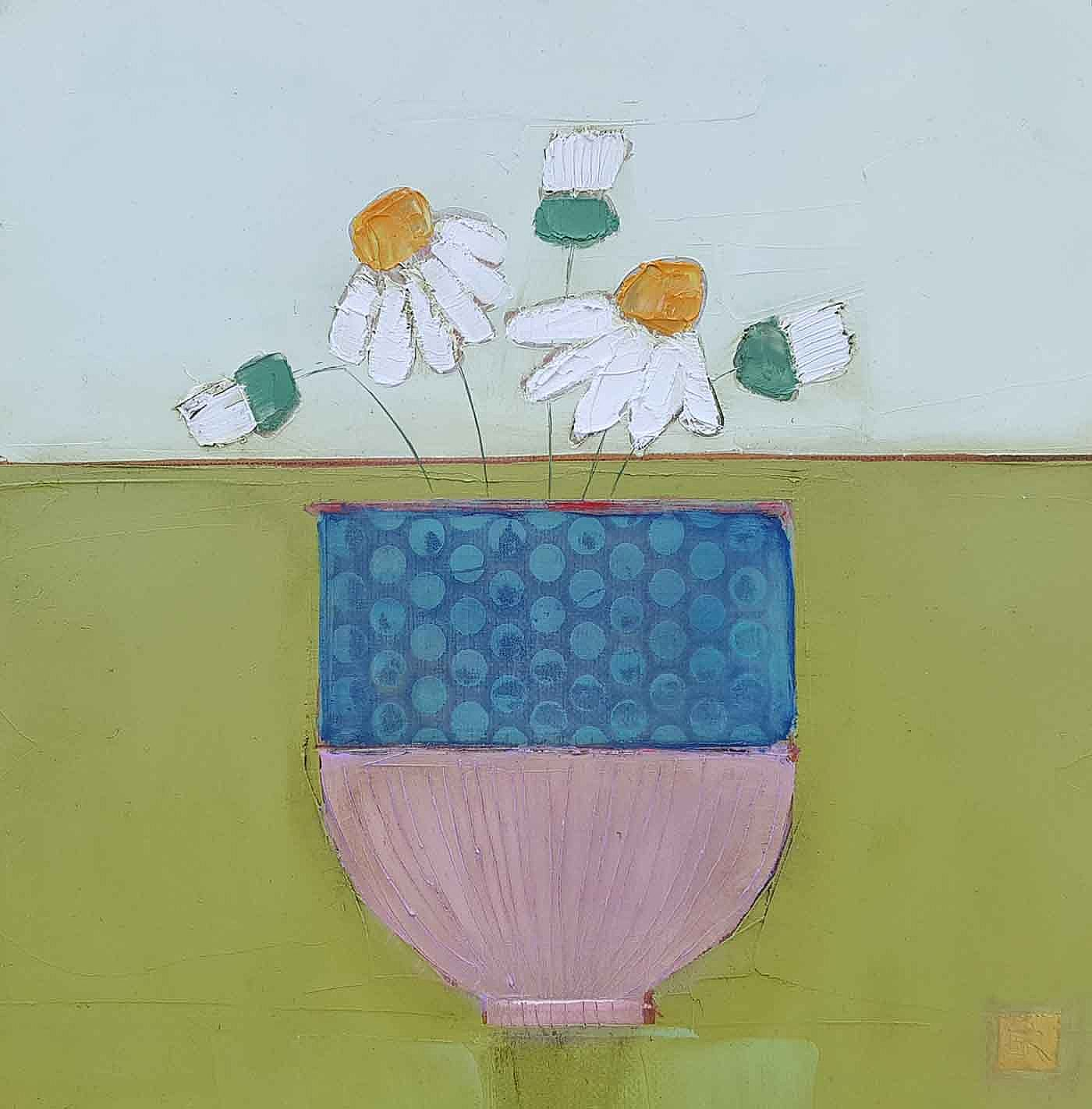 Eithne  Roberts - Dotty daisy pot