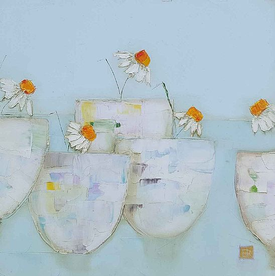 Eithne  Roberts - Five daisy pots