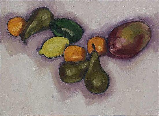 View Fruit On White