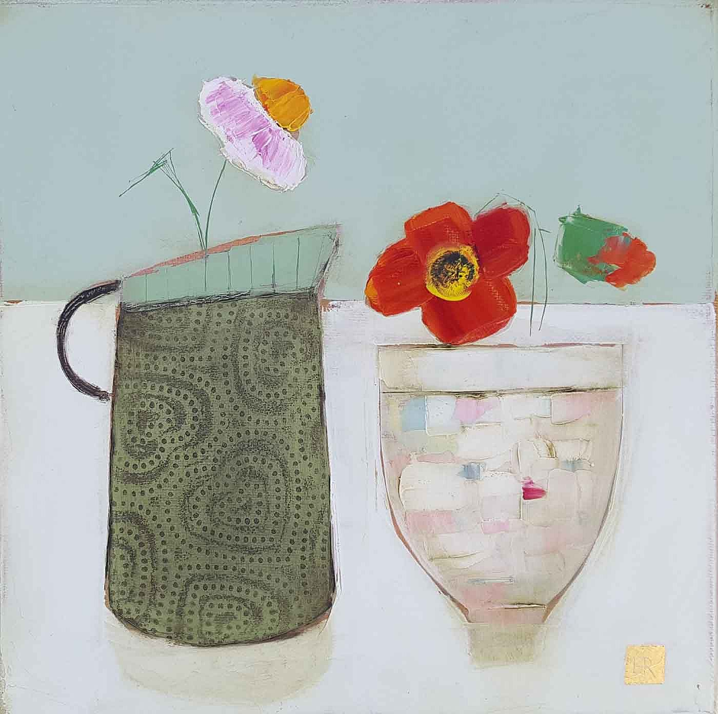 Eithne  Roberts - Green hearts red flowers
