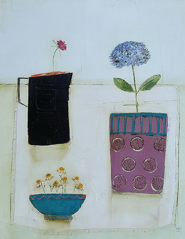 Eithne  Roberts - Hydrangea pot and daisy bowl