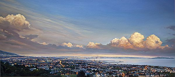 Sergey  Talichkin - Dublin Bay at dusk from Killiney Hill