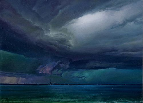 Sergey  Talichkin - Rainclouds sit over Poolbeg
