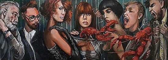 Unknown - Lobster Party 215x80cm