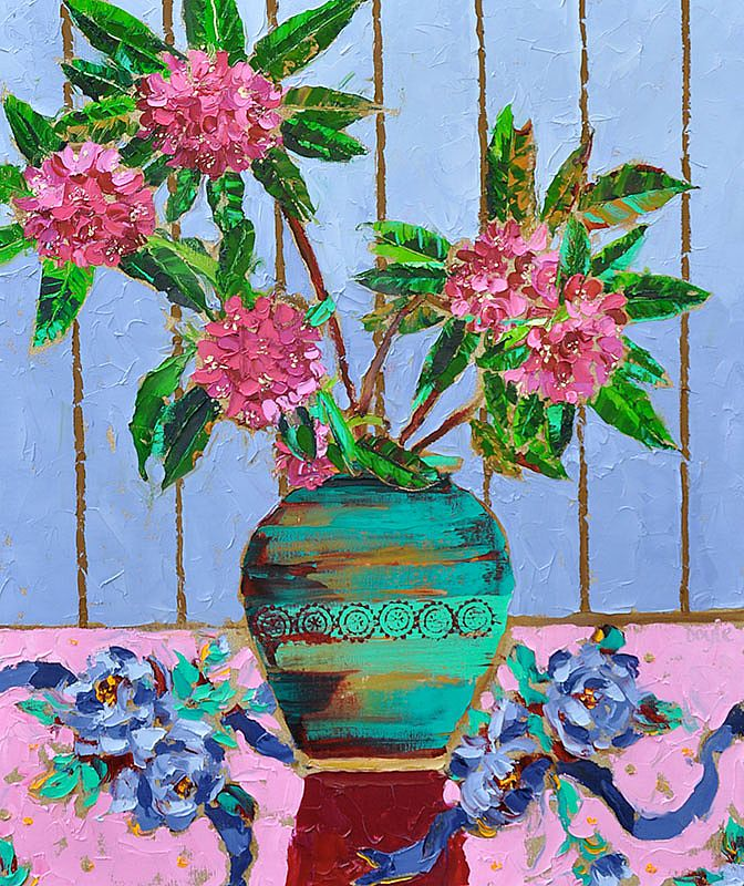 Lucy Doyle - Magenta Rhododendrums
