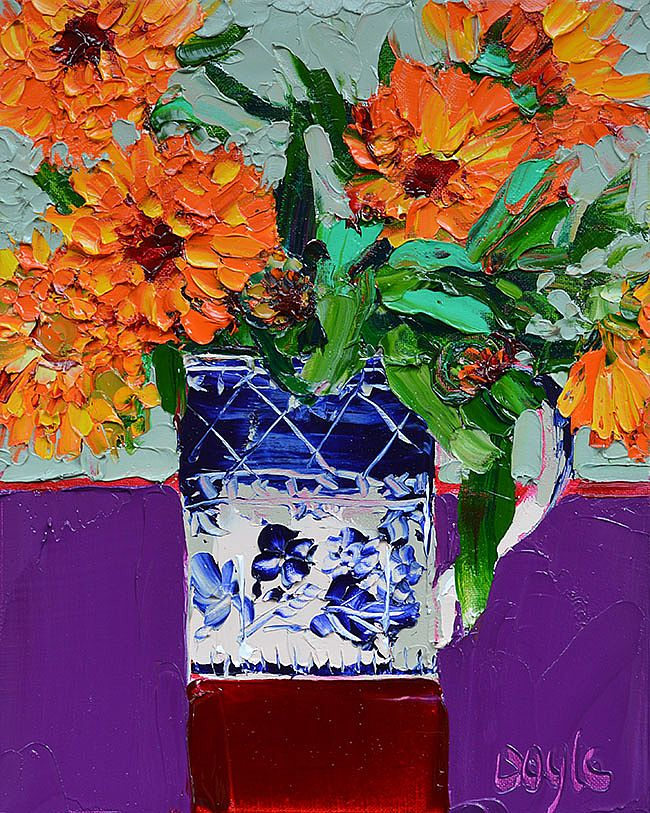 Lucy Doyle - Marigolds violet