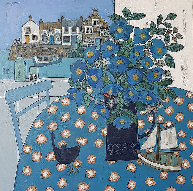 Alison  Dickson - Meconopsis at the harbour