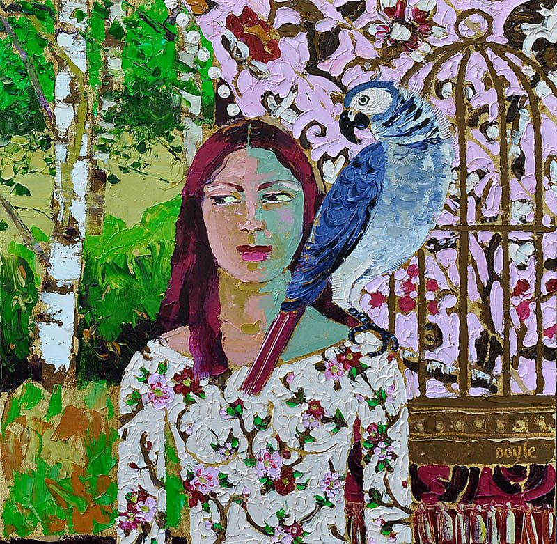 Lucy Doyle - Parrot and Cage