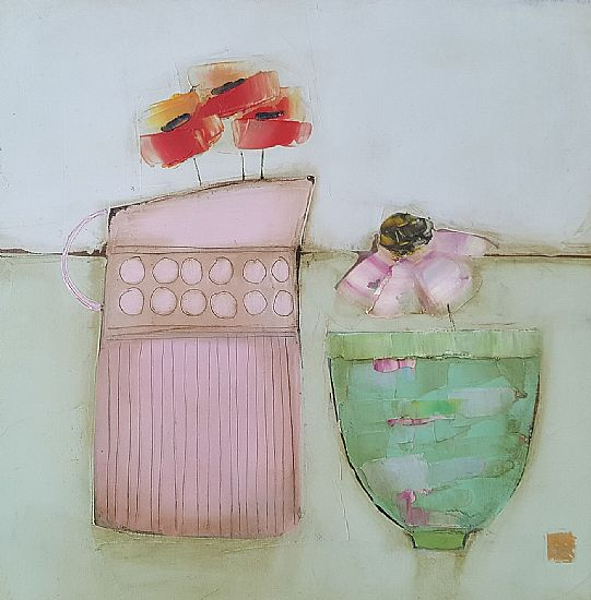 Eithne  Roberts - Pink jug small bowl
