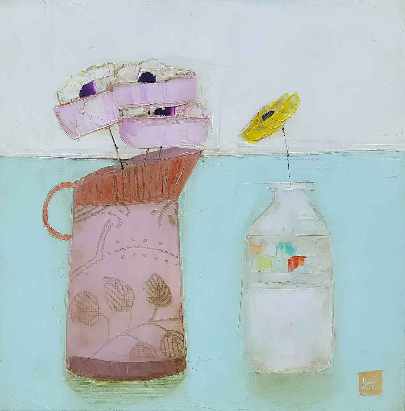 Eithne  Roberts - Pink jug white bottle